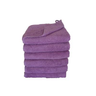 Ensfarvet håndklæde - luksus i tykt frotté