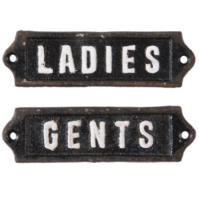 toiletskilte ladies & gents