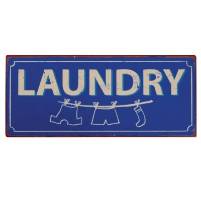 Metalskilt, Laundry