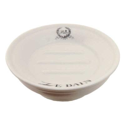 rund sæbeskål, keramik