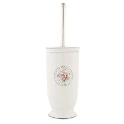 Toiletbørsteholder med blomsterdekoration