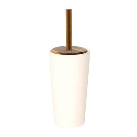 Toiletbørsteholder, hvid keramik
