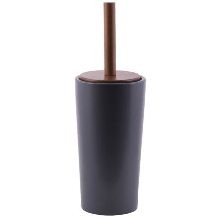 Toiletbørsteholder, sort keramik, Outback