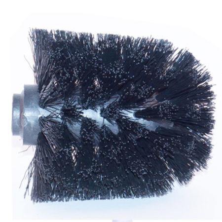 løst børstehoved til toiletbørsteholder fra Outback, hvid og sort