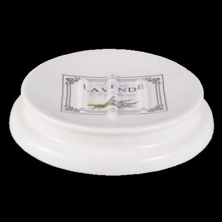 sæbeskål med lavendler, porcelæn
