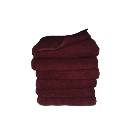 håndklæde, ensfarvet, bordeaux