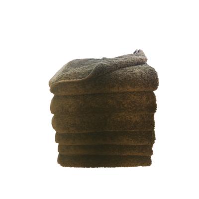 håndklæde, ensfarvet, mørkebrun