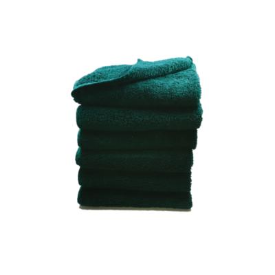 håndklæde, ensfarvet, petroleumsgrøn