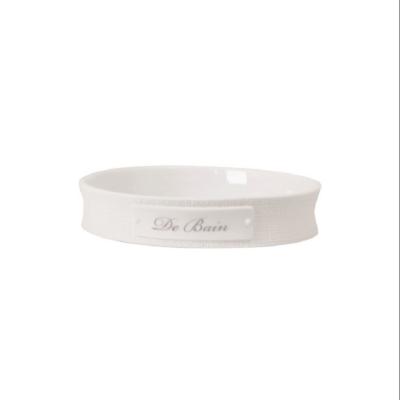 De Bain sæbeskål, keramik, hvid