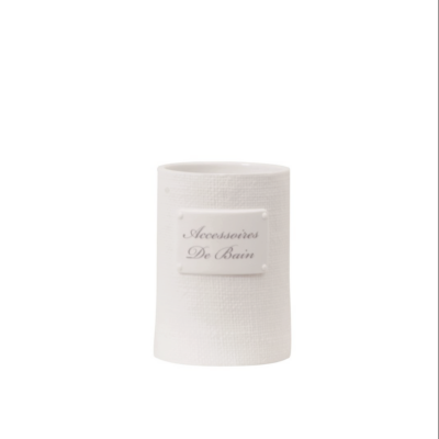 De Bain tandkrus, keramik, hvid