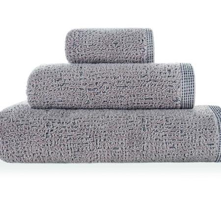 Ensfarvet badehåndklæde 50 x 100 lys grå