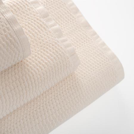 Vegansk badehåndklæde 70x140 cm, cremefarvet