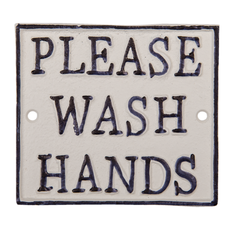 skilt Please wash hands